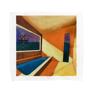 オレンジ色のバスルーム Towel handkerchiefs