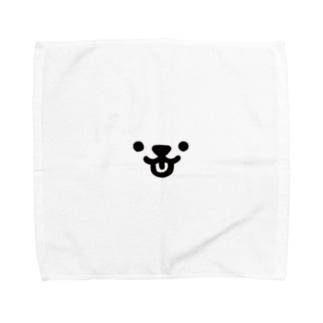 白い子 Towel handkerchiefs