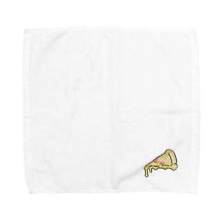 刺繍ピザ Towel Handkerchief