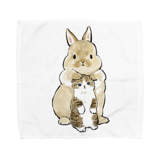 ちっこいねこ Towel handkerchiefs