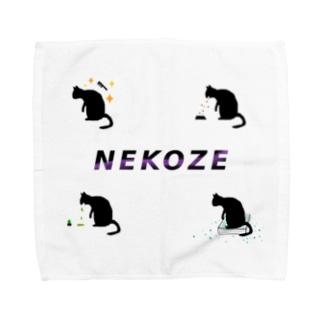 NEKOZE生活ロゴ Towel handkerchiefs