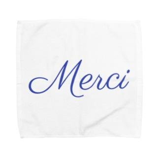 Merci フランス語ありがとう Towel handkerchiefs