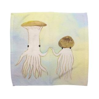 エリンギイカとシメジタコ Towel Handkerchief