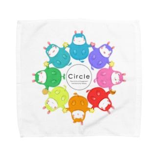 カバロバ circle Towel handkerchiefs
