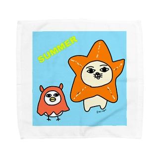 ヒトデとメンダコのコスプレ Towel handkerchiefs