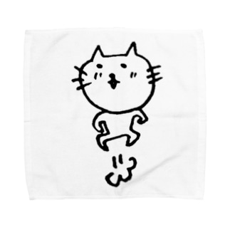 ねこ新聞のneco、飛ぶ Towel handkerchiefs
