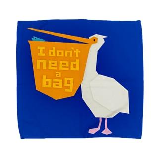 いつも袋を持ってるペリカン Towel handkerchiefs