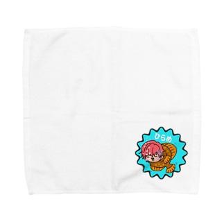 ひらめ【討伐隊】のひらめくん Towel handkerchiefs