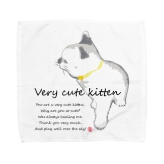 癒され猫サン Towel handkerchiefs