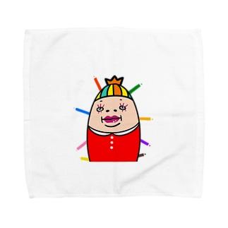 カラフルしも子 Towel handkerchiefs