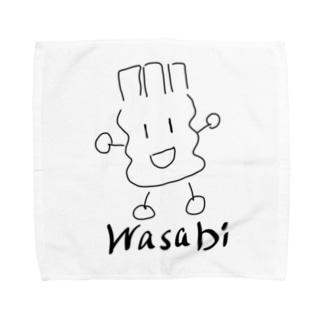 デカわさびモノ Towel handkerchiefs