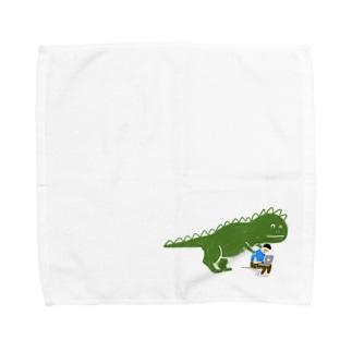お仕事おつかれさまザウルス Towel handkerchiefs