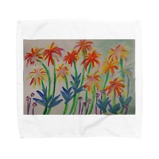 みなみの島の花 Towel handkerchiefs