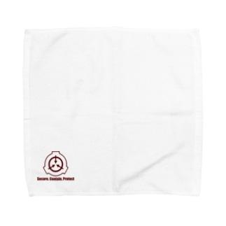 SCP財団ロゴマーク(えんじ) Towel handkerchiefs