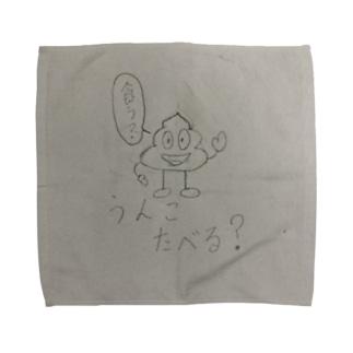 うんこたべる? Towel handkerchiefs