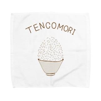 大食い専用デザイン「てんこもり」 Towel handkerchiefs
