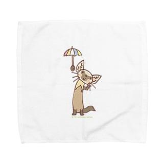 テン「雨かしら?」 Towel handkerchiefs