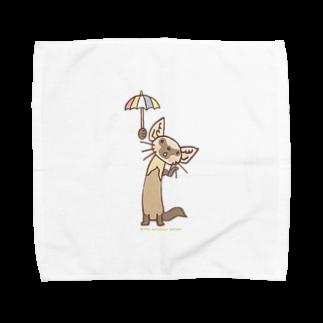 ザ・ワタナバッフルのテン「雨かしら?」 Towel handkerchiefs