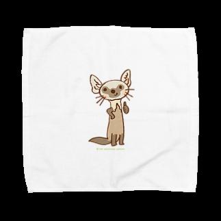 ザ・ワタナバッフルのテンのキャラ:サムズアップ👍 Towel handkerchiefs