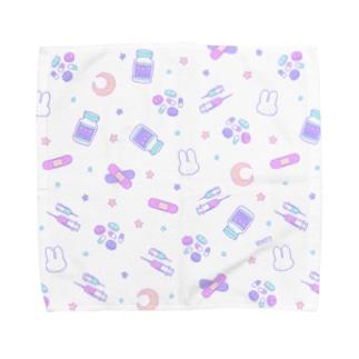 Yamikawaii Syndrome フルグラフィック #Purple Towel handkerchiefs