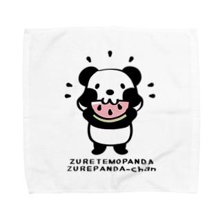 *suzuriDeMonyaa.tag*のCT40ズレてもぱんだズレぱんだちゃんnew Towel handkerchiefs