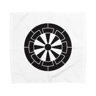 佐藤家家紋「源氏車」 Towel handkerchiefs
