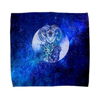 夢羊ver.2 泥中のレプリカ(カラー フル) Towel handkerchiefs