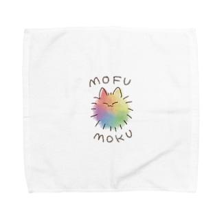 レインボーもふモク Towel handkerchiefs