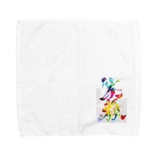 笑顔で過ごそう Towel handkerchiefs
