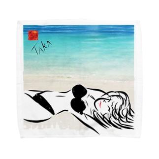 Black Bikini Lady Towel handkerchiefs