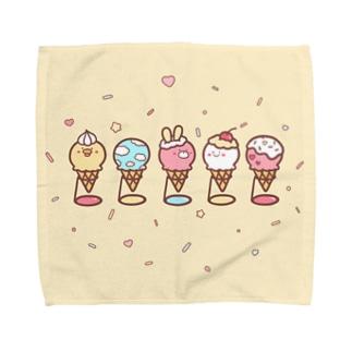 アイスクリームSHOP♡ Towel handkerchiefs