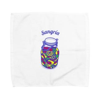 フルーツたっぷりサングリア Towel handkerchiefs