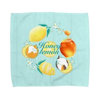 ねことはちみつレモン Towel handkerchiefs