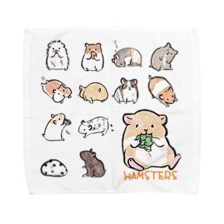 ハムスターさんたち Towel Handkerchief