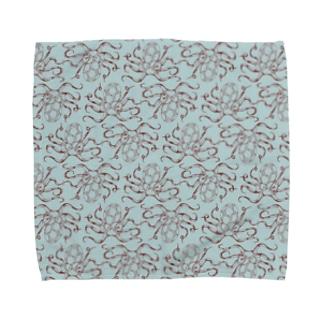 nemunoki paper itemの水玉海洋生物 イイダコ Towel Handkerchief