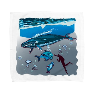 スカンジナビアの海のお散歩 Towel handkerchiefs