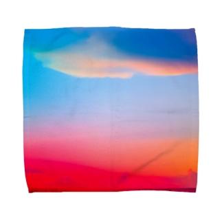ひのまる弁当グアムの赤富士初夢一富士 Towel handkerchiefs