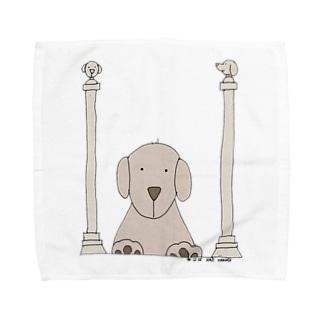 ワンチャン神殿を守るindyくん Towel handkerchiefs