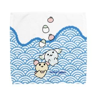 すいっすいっざぶんシリーズ Towel handkerchiefs