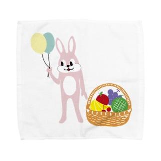 ウサギとフルーツバスケット Towel handkerchiefs