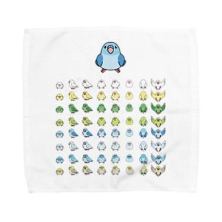 まめるりはことりの整列マメルリハ隊【まめるりはことり】 Towel handkerchiefs