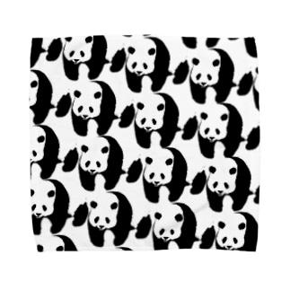 ぞろぞろパンダ Towel handkerchiefs