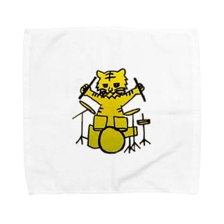 ドラ君(虎 ドラム) Towel handkerchiefs