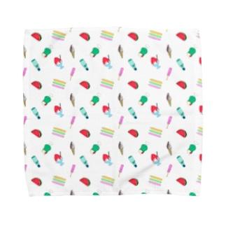 懐かしの夏菓子柄 Towel handkerchiefs