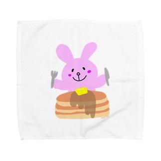 たすちゃんの夏休みのパンケーキが食べたいたすちゃん Towel Handkerchief