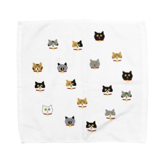 猫の顔 Towel handkerchiefs