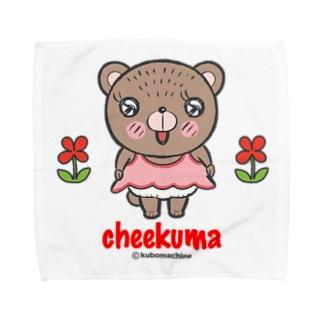 ちーくまちゃん(お花) Towel handkerchiefs