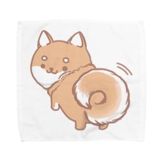 しっぽふりふりしば Towel handkerchiefs