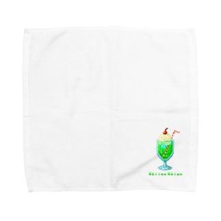 ドット・クリームソーダ Towel handkerchiefs