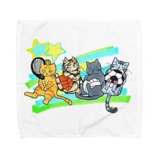 ネコリンピック✨球技 Towel handkerchiefs